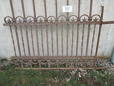 Antique Victorian Iron Gate Window Garden Fence Architectural Salvage Door #707 5