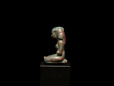 Egyptian Bronze Kneeling Woman 4