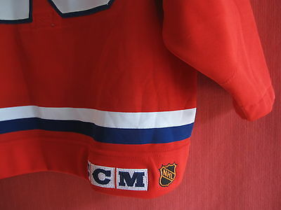 Maillot Hockey Maska Canadiens de Montréal Vintage Porté Brian Bellows - 48
