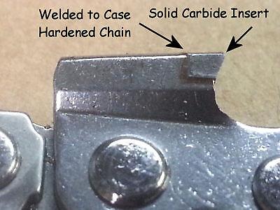 """S50 *SOLID CARBIDE* 50DL 14/"""" ChainSaw Chain Homelite© EL12 EL14 EL16 SEE VIDEO"""