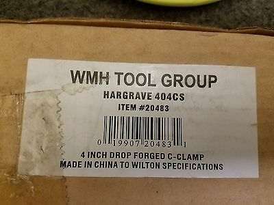 """Hargrave 404CS 4"""" Drop Forged C Clamp 5"""
