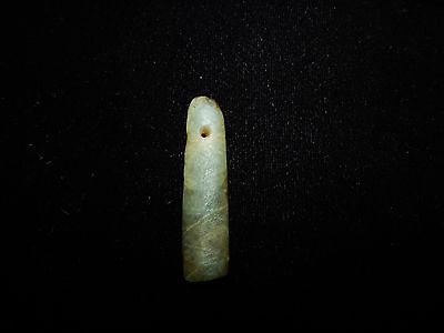 Pre-Columbian Jade Pendant, Translucent Jade, Nicoya Costa Rica 2