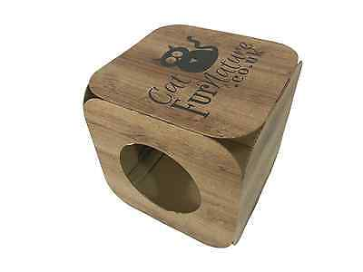 Cardboard Cat House \ Bed Toy Scratcher Wood Effect Cube 5