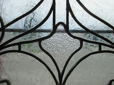 ~ ANTIQUE AMERICAN STAINED GLASS WINDOW ~ 22.75 x 43 ~ ARCHITECTURAL SALVAGE ~