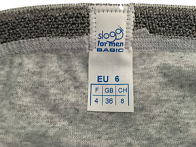 SLOGGI mens briefs mod BASIC MINI grey 96% cotton 4% elastane