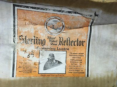 Vintage Industrial Sterling Mercury Glass Shade Reflector Steampunk NOS 127-18E 6