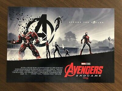 "AVENGERS ENDGAME AMC IMAX EXCLUSIVE POSTER 11"" x 15.5"" Week 1 & 2 Poster Set 2"