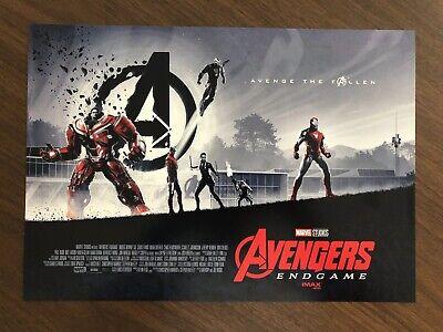 AVENGERS ENDGAME AMC IMAX Exclusive   Week 1 Poster & Bonus Solo Mini Poster 2