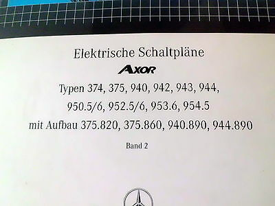 MERCEDES BENZ Axor Elektrische Schaltpläne Band 1 - Band 2 und Band ...