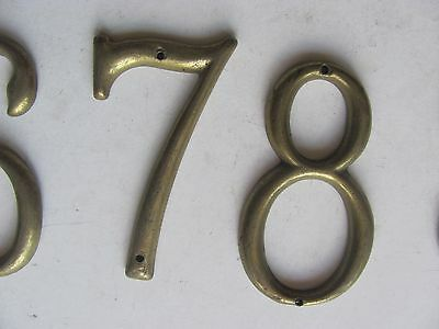 ONE Antique Vintage Solid Brass House Number Make Your Own Set - Many Available! 6