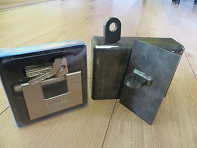 Shipping Container Weld On Lock Box Right Hand Opening Door Security With Lock 6