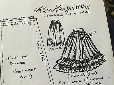 Geri Milano Doll Clothing Pattern 18 to 20 in.