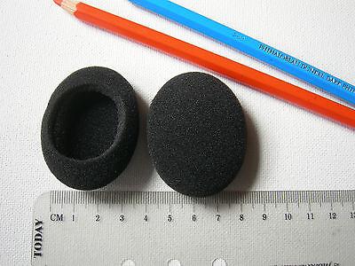2 Ohrpolster oval zB für Logitech EasyCall Desktop Headset Easy Call
