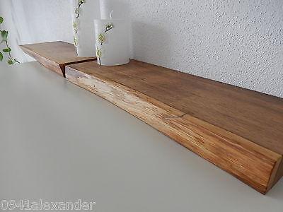 2x Wandboard Eiche Wild Massiv Holz Board Regal Steckboard