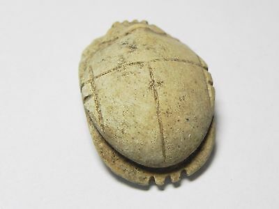 Zurqieh -Af960-  Ancient Egypt - Stone Button Scarab , 664 - 332  B.c 4
