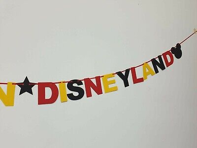 DISNEY REVEAL SURPRISE BANNER BLACK RED YELLOW Were off to Disneyland here we go 3