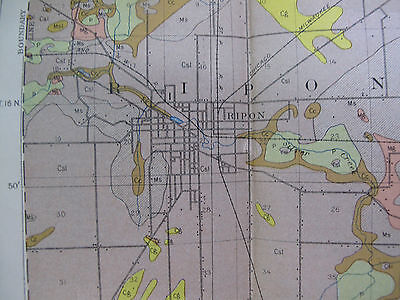 Color Soil Survey Map Fond Du Lac County Wisconsin Ripon Brandon Waupun 1911 3