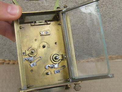 Antique French Bronze Carriage Clock 1900s - working 9