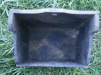 Vintage Antique Wooden Box For Cutlery With Dark Patina 3