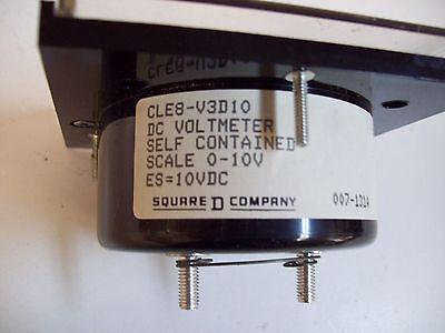 Square D Cle8-V3D10 Dc Voltmeter 0-10V Gauge - New - Free Shipping! 4