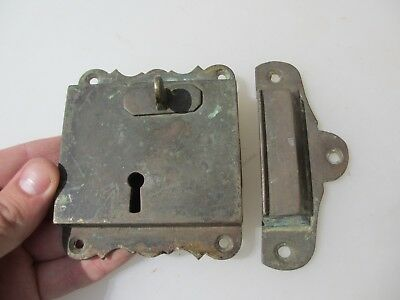 "Georgian Brass Door Lock Keep Antique Victorian Old Sri Lanka Colonial ""Galle"" 9"