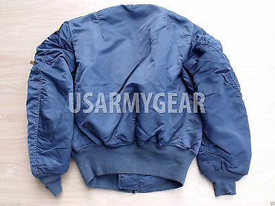 85c385271d1ab ... MADE in USA New MA-1 ALPHA INDUSTRIES PILOT FLIGHT JACKET