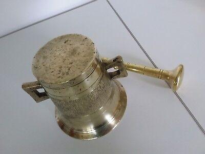 Antiker Apothekenmörser mit Pistill - BRONZE- 19.Jahrhundert / BIEDERMEIER 10