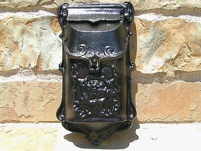 Cast Iron Reproduction mailbox suggestion box Black Victorian style 9