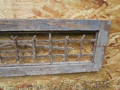 Antique Victorian Iron Gate Window Garden Fence Architectural Salvage Guard H 3