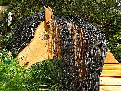 80cm holzpferd voltigierpferd pony pferd mit maul f r trense und blesse neu eur 328 00. Black Bedroom Furniture Sets. Home Design Ideas