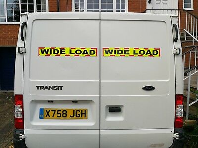 WIDE LOAD MAGNET MAGNETIC Lorry Truck Trailer long CHEVRON Towing Volvo DAF x 1 3