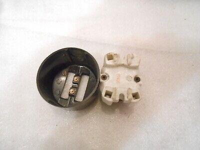 Serienschalter Bakelit doppel Kipp  Schalter  Aufputz schwarz Steckdose Orig