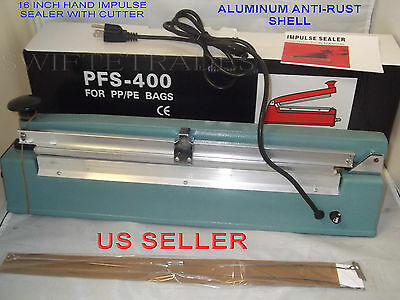 "6 Heating Elements 3mm 400mm PFS400 6 PTFI Sheet For Impulse Sealer 16/"""