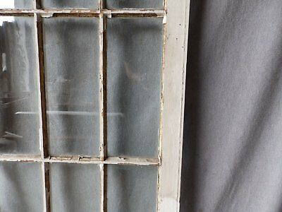 Antique French Door Window Cabinet Bookcase Casement Vtg Shabby 61x22 186-17P 11