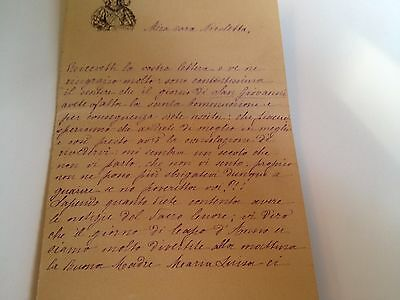 1886 --Meia cara Nicoletta (4 Page signed letter w/Envelope, Napoli, Cento Baci 9