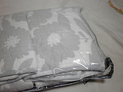 standard pillow shams. 2 Of 6 NEW Max Studio Home Standard Pillow Shams Set Two ~ Grey/White Floral Flower H