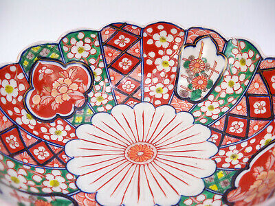 Japanese Imari Scalloped Bowl 6