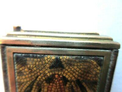 Superbe Poudrier Art Déco avec miroir, laiton doré et galuchat? 10