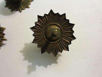 3 Vintage Regency Brass Hardware Drawer pulls Handles Dresser pierce carved 5