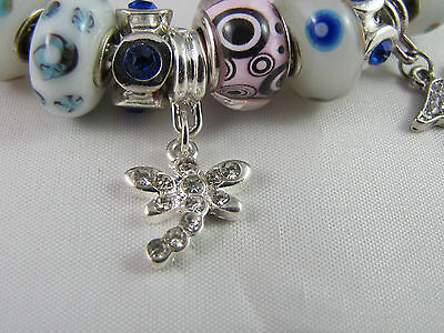 """SWEET 925 STAMPED SILVER 20cm EUROPEAN STYLE CHARM BRACELET """" MERRY PLAYGROUND """" 6"""