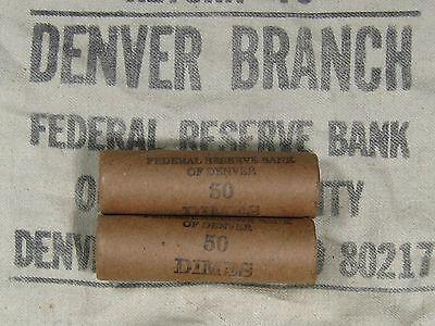(ONE) FRB Denver Mercury Silver Dime Roll GEM 1916 & D-Mint Ends 3