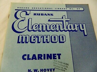 Rubank Elementary Method Clarinet Learn to Play Clarinet Vintage Library No 34 2