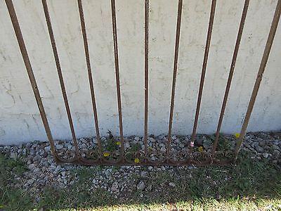 Antique Victorian Iron Gate Window Garden Fence Architectural Salvage Door #383 4