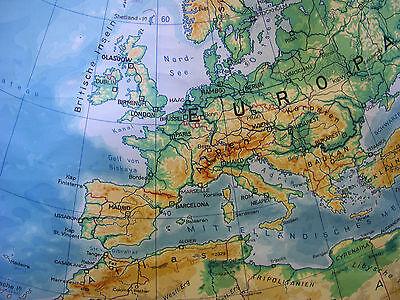 Schulwandkarte schöne alte Nördliche Erdhälfte Arktis 170x179c vintage map ~1957 3