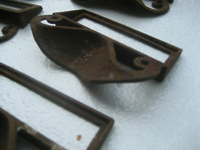c1880 SET of 12 matching authentic VICTORIAN cabinet pull hardware 3.5 on holes 8