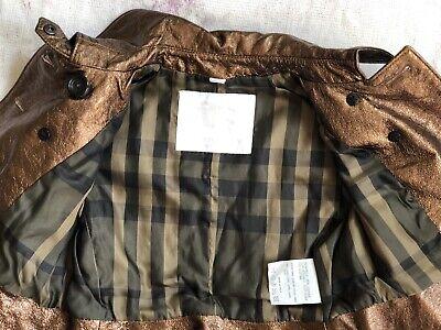 BURBERRY Children Mädchen Jacke Leder Gr.122 6-7 years girls leather jacket belt 10