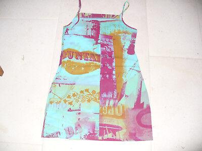 ROBE CACHE CACHE Turquoise à bretelles Taille 38 - EUR 6,90 ... d6bc58945e18