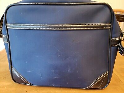 Vintage Sasson Luggage- Carry On -Travel Overnight Bag- Travel Tote 10
