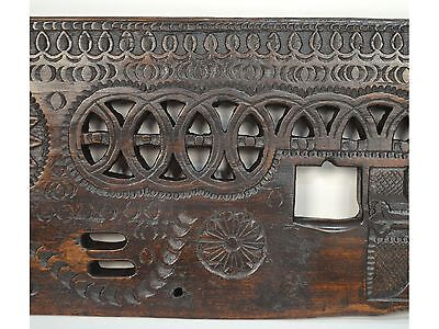 16/17th Century Antique Carved Wood Architectural Decorative Panel 8