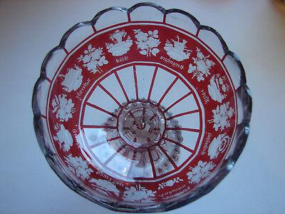 antiker Andenken-Tafelaufsatz,  rot gebeizt, original Biedermeier 7